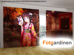 Vorhang Schallabsorbierend Dekoration : Fotogardinen anime vorhang mit motiv fotovorhang auf maß ebay