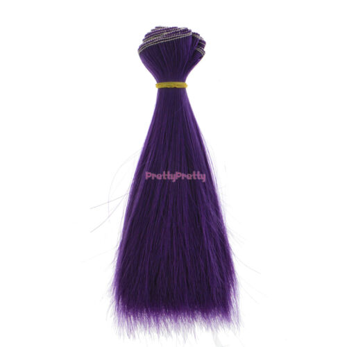15x100cm DIY Accessory Solid Wig Hair Straight 1//3 1//4 1//6 For BJD SD Luts Doll