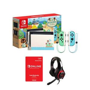 Nintendo Switch New Horizons Edition + Nintendo Online 12 Month + Nyko Headset
