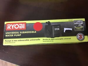 Ryobi Universal Wet Tile Saw Blade Cutter Water Pump Filter 40 GPH Accessory New