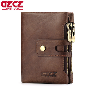 Men-Women-Genuine-Leather-Cowhide-Trifold-Wallet-Credit-Card-ID-Holder-Purse-New