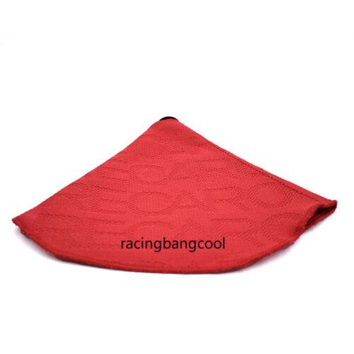 Racing Recaro Red Hyper Fabric Shift Boot Shift Knob Cover for Universal Car