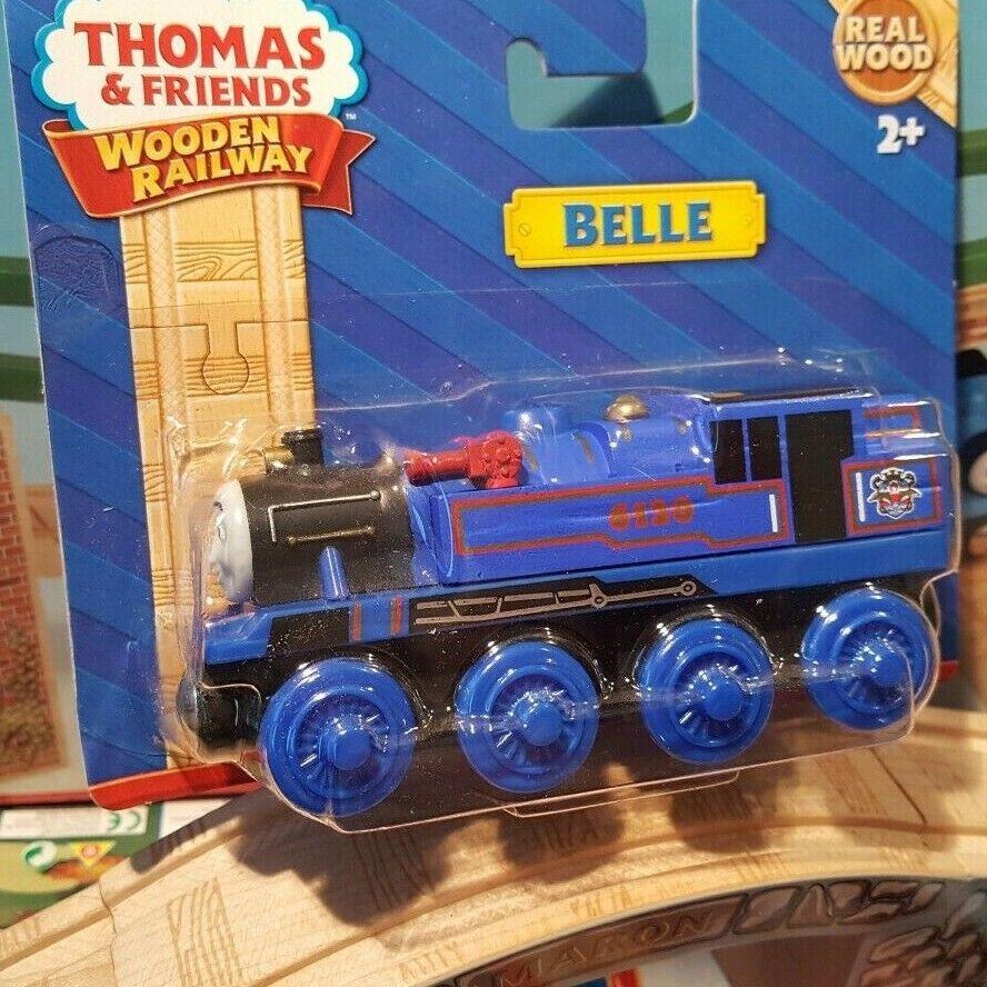 THOMAS & FRIENDS WOODEN RAILWAY  BELLE  RARE Blau WHEELS EDITION NEW IN BOX