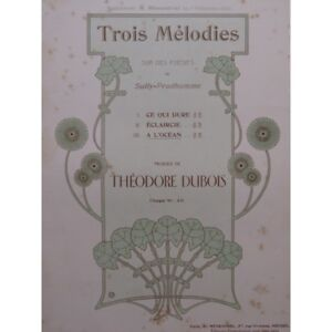 Noten & Songbooks Sonnig Dubois Theodore L'ozean Chant Piano 1902 Partitur Sheet Music Score Antiquarische Noten/songbooks