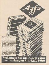 J1489 AGFA Filmpack - Pubblicità grande formato - 1929 Old advertising