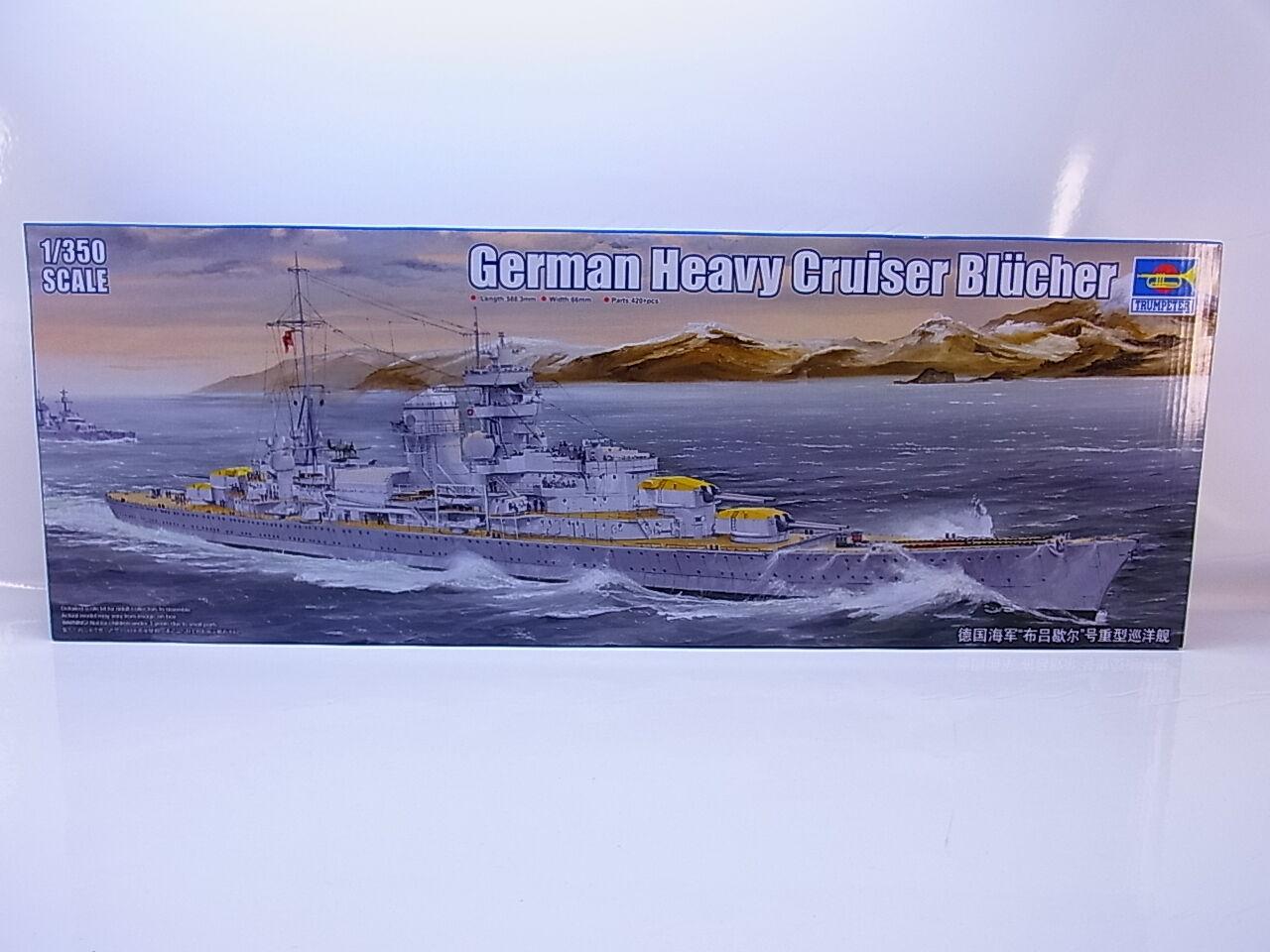 Interhobby 43586 Trumpeter 05346 German heavy cruiser Blücher 1 350 Bausatz NEU  | Kaufen