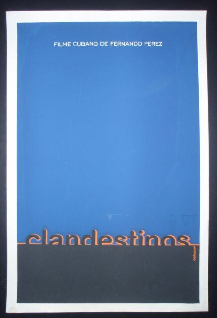 CLANDESTINOS / Original Cuban Silkscreen Movie Poster / CUBA ART / Clandestine