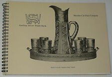 Meriden American Brilliant Cut Glass Wilcox Silver Catalog ABCG book engraved