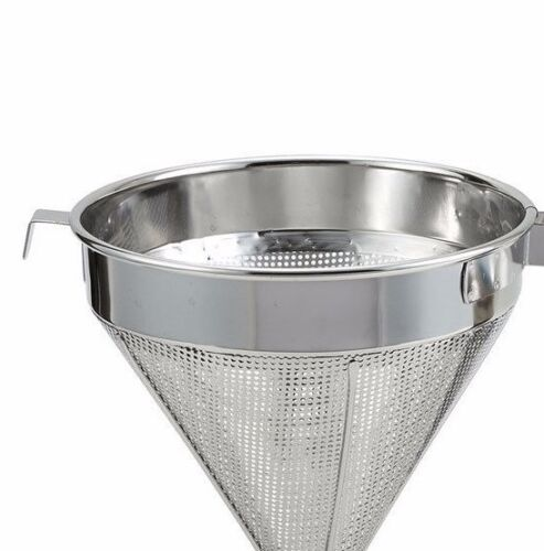 Winco CCS-8C Stainless Steel 8-Inch Coarse China Cap Strainer