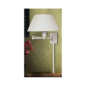 Wall Mounted Bedside Lamp With Plug : Wall Mounted Swing Arm Lamp Bedside Office Reading Lighting Sconce Shade Plug In eBay