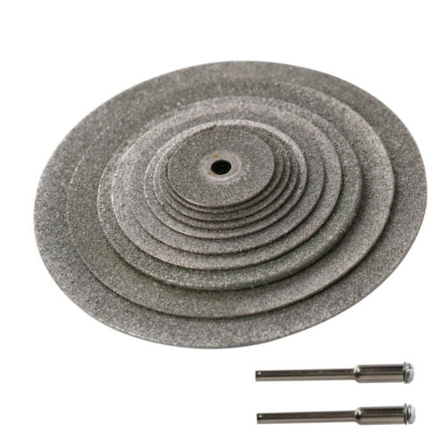 """12Pcs Diamond Cutting Disc Grinding Wheel Accessories for Rotary Tool 1//8/"""" Shank"""