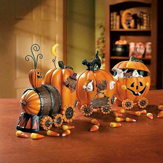 Halloween Decorations Indoor Jack O Lantern Pumpkin Train