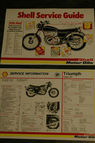 Shell Service Sheet Triumph T150//T160 Triple