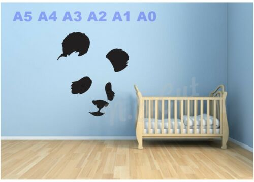 Panda Ojos Stencil Child/'S Habitación Pared-tarjetas-foto A5 A4 A3 A2 A1 A0 # Teds 020