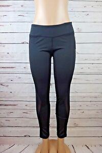 df893b73ebee69 NEW Central Park Activewear Women's Mesh Panel Leggings Black Size L ...