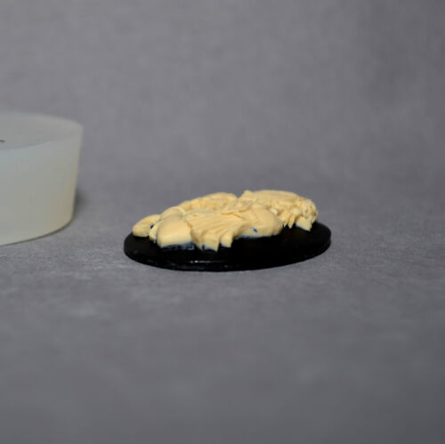 Lady Skull silicone mold cameo Cupcake polymer clay chocolate resin fimo mold