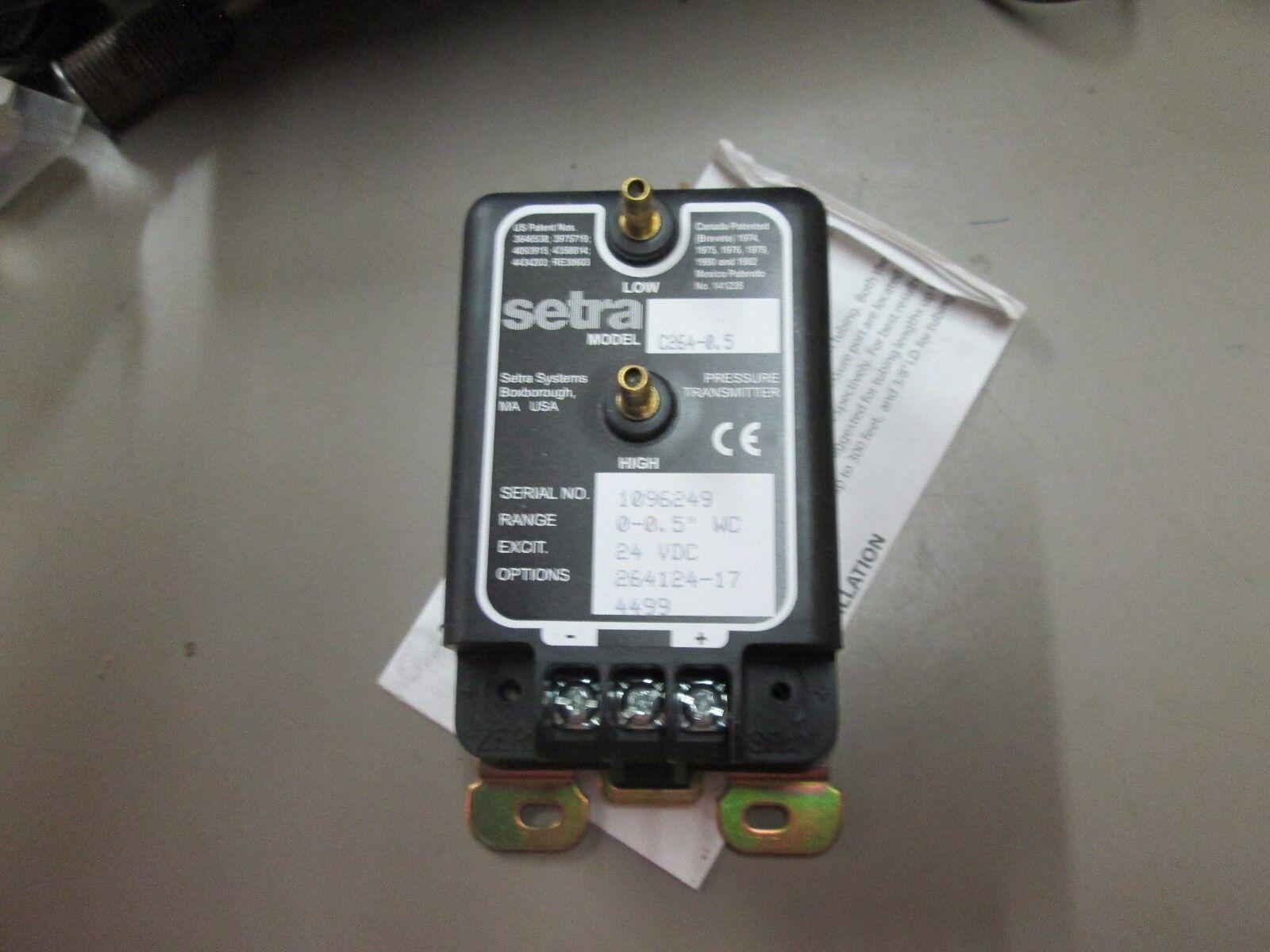 SETRA C264-0.5 Pressure Transducer New