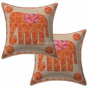 Cotton Mirror Cushion Cover Abstract Embroidery Indian Pillow Case Cover Throw