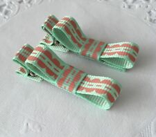 2 Packs Of Simple Everyday hair bow Clips/aligator Clip