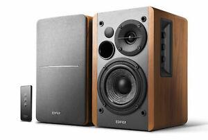 Aktives R1280T 2.0 HiFi Regal Lautsprecherpaar Wood inkl. Infrarot-Fernbedienung