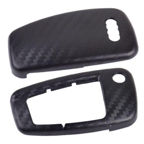 Carbon Fiber 3 Buttons Remote Flip Key Cover Case Shell fit Audi A1 A3 2000-2016