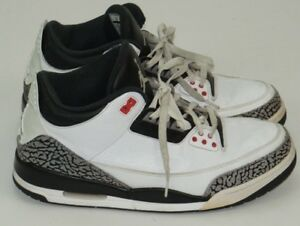 896ce5a9b160 Nike Air Jordan 3 Retro White Cement Grey Infrared 23 Black 136064 ...