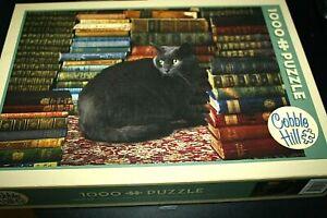 Library-Cat-Puzzle-1000-pcs-Black-Cat-Books-Cobble-Hill-Librarian-BKK