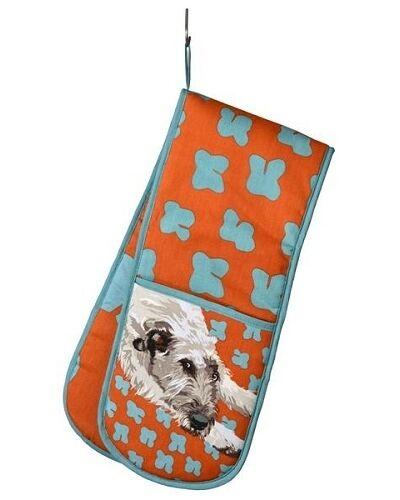 Lurcher Dog Double Ovengloves Wolfhound Greyhound Gift//Present