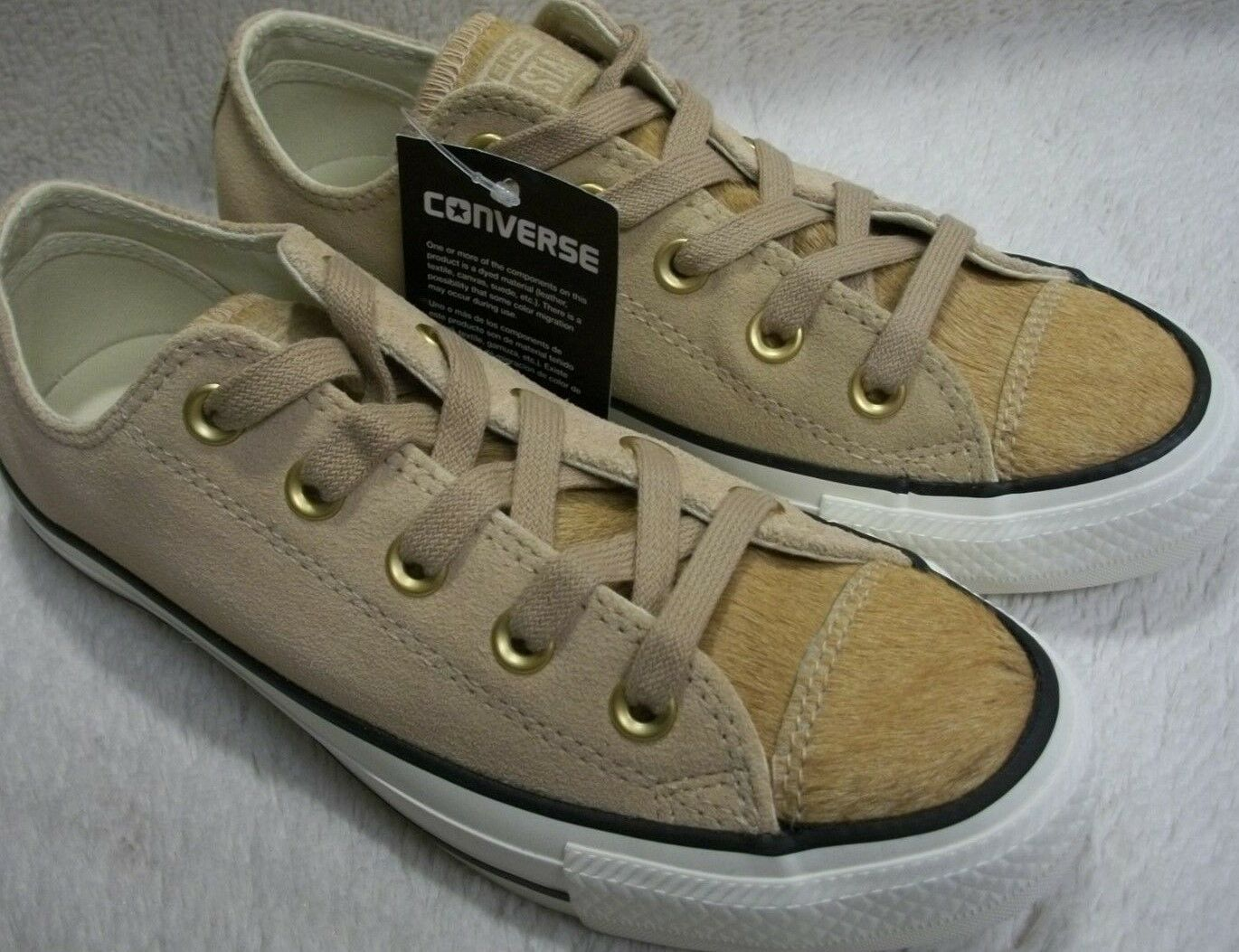 Converse 157665C CTAS OX Light Fawn Pony Hair Men's 3 - Women's 5 Mfg Ret $85