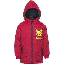 d6e8da8e3 Boys Official Pokemon Pikachu Padded Hooded Coat Jacket Anorak 4 to ...