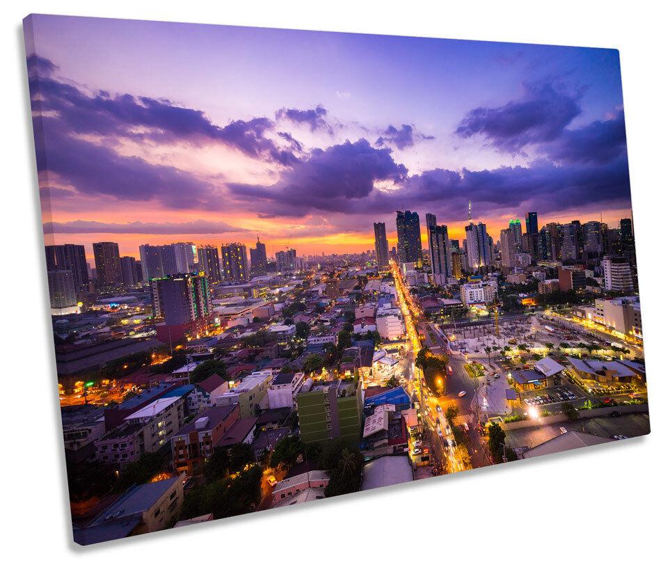 Manila Filipinas Asia Horizonte de LONA parojo parojo parojo arte Foto impresión única 0a8329