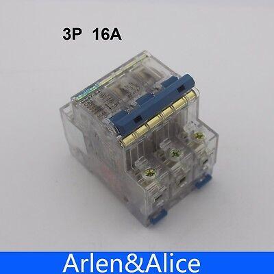 3P 16A Transparent case Mini Circuit breaker MCB safety breakers