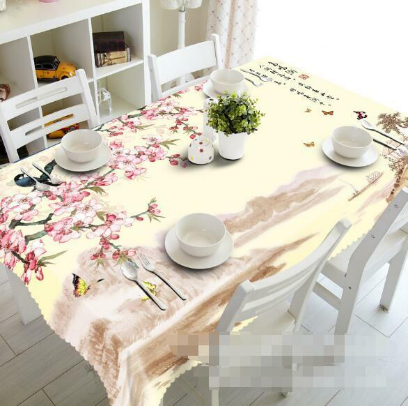 3D Blossom 56 Tablecloth Table Cover Cloth Birthday Party Event AJ WALLPAPER AU