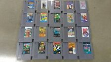 Nintendo NES Game Lot of 20 Tetris, Blades of Steel, Rad Racer, Fester's Quest