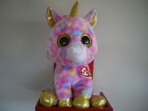 Ty Beanie Boos FANTASIA unicorn 17 inch NWMT.LARGE 40cm.FREE POST IN ... 198c9aa83cb3
