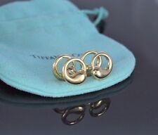 $3,100 Tiffany Elsa Peretti 18k Solid Yellow Gold Eternal Circle Men's Cufflinks