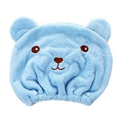 Cute Microfiber Hair Turban Quickly Dry Hair Hat Wrapped Towel Bathing Cap Towel