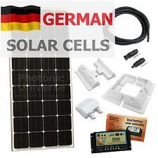 150 W 12 voltios batería Doble Panel Solar Kit De Carga Para autocaravana, caravanas, barcos