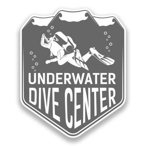 2 x Underwater Dive Centre Vinyl Stickers Travel Luggage #7356