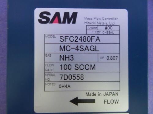 SAM SFC2480FA Mass Flow Controller NH3 100 SCCM USED MC-4SAGL