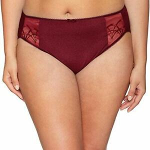 NWT-Elomi-Women-039-s-Plus-Size-Cate-Embroidered-Briefs-Cabernet