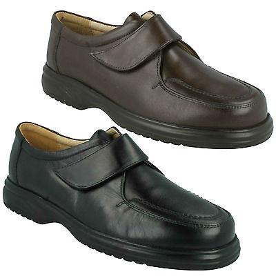 Roamers Hombre SEAN CIERRE ADHESIVO cuero zapatos elegantes formales M460