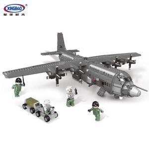 Xingbao-Bausteine-Modellbausaetze-Ostern-Militaer-AC130-Kaempfer-Flugzeuge-Spielzeu