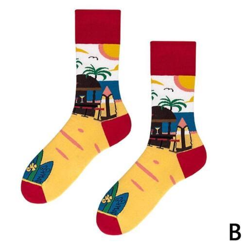 Creative Street Art Harajuku Men Socks Business Novelty Unisex Size Sock hot