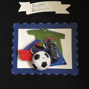 FOOTBALL FAN 3D CARD TOPPER BIRTHDAY//FATHERS DAY A
