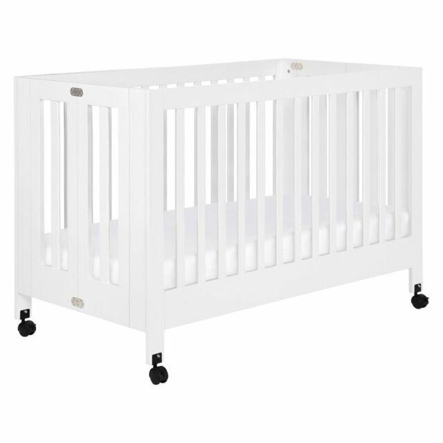 Babyletto Maki Full Size Folding Crib White M6601w For Sale Online Ebay