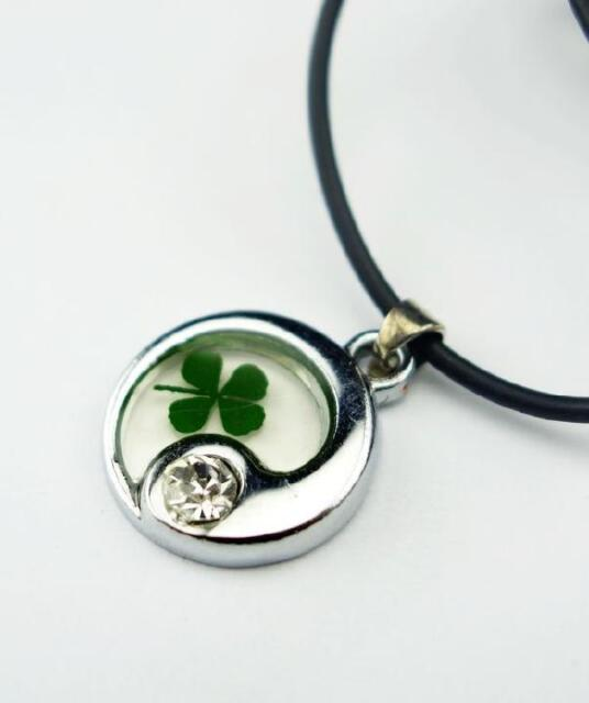 8 PCS Real Irish Four Leaf Clover Shamrock Pendant Lucky Saint Patrick's Day NG