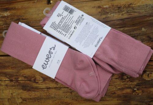 EWERS Strumpfhose wildrose altrosa rosa einfarbig 80/% Baumwolle