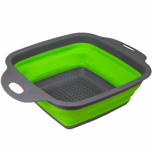 """Easy Storage Folding Kitchen Strainer Collapsible Colander 7.25/"""" x 9.5/"""" x 3/"""""""