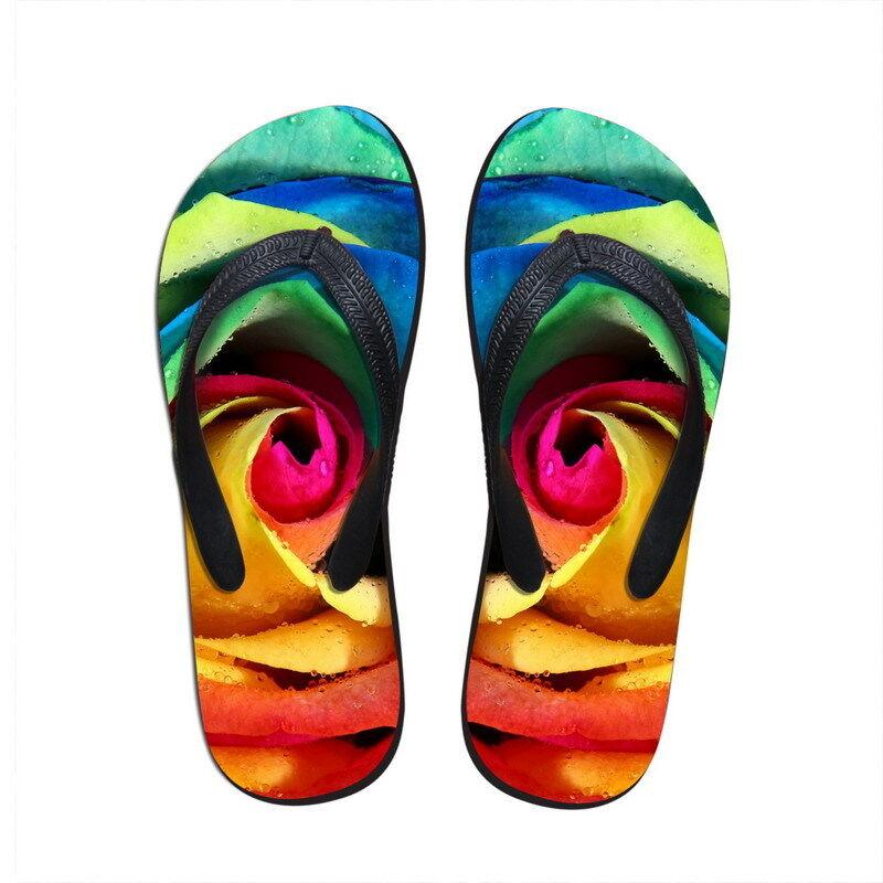 Floral Beach Summer Sandals Shoe Flat Beach Floral Women's Thongs Flip Flops Size 9 Footwear 3ba98f